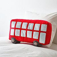 """Подушка, красный, """"UPPT?G УППТОГ"""", 45x27 см"""