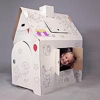 """Картонный игровой домик раскраска для детей """"Алфавит"""""""