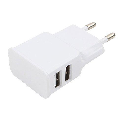 Адаптер питания Cablexpert MP3A-PC-11 100/220V - 5V USB 2 порта, 2.1A, белый
