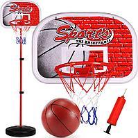Баскетбольное кольцо на стойке 144 см  777-459