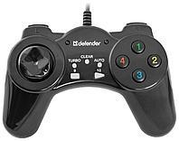 Геймпад Defender Vortex USB, 13 кнопок, Прекрасная модель для начинающих геймеров.