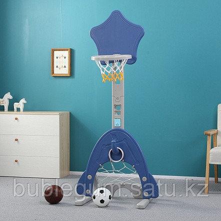 Стойка баскетбольная Pituso ЗВЕЗДА (с кольцебросом, футб.воротами) BLUE/Синий