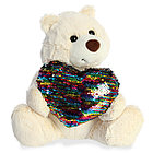 Игрушка мягкая AURORA Медведь Большое сердце крем. 30 см