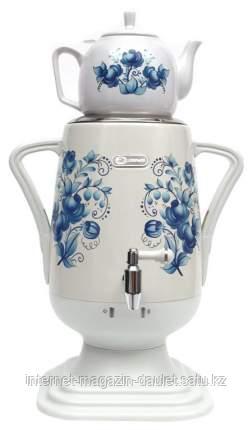 Самовар электрический  с заварочным чайником белый