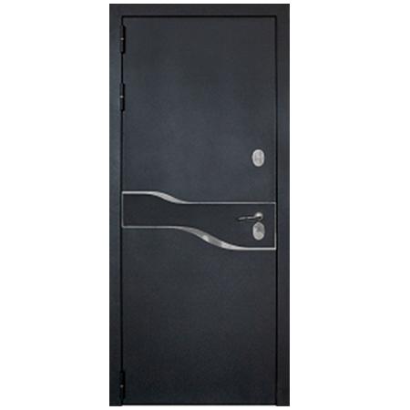 Дверь металлическая Амакс Термо Черный шелк 960 левая