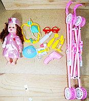 7899/ 7817-6B Кукла медсестра с коляской +мед набор в пакете 66*17см