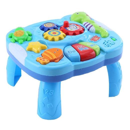 Развивающий столик 2в1 TOT KIDS МОРСКОЙ (свет,звук) 27,5*25*18 см (в кор.24 шт.)