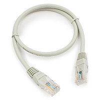 Патч-корд медный UTP Cablexpert PP10-0.5M кат.5e, 0.5м, литой, многожильный (серый)
