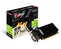 Видеокарта MSI GeForce GT 710, 1GB DDR3 64-bit 1xVGA 1xDVI 1xHDMI GT 710 1GD3H LP GT 710 1GD3H LP