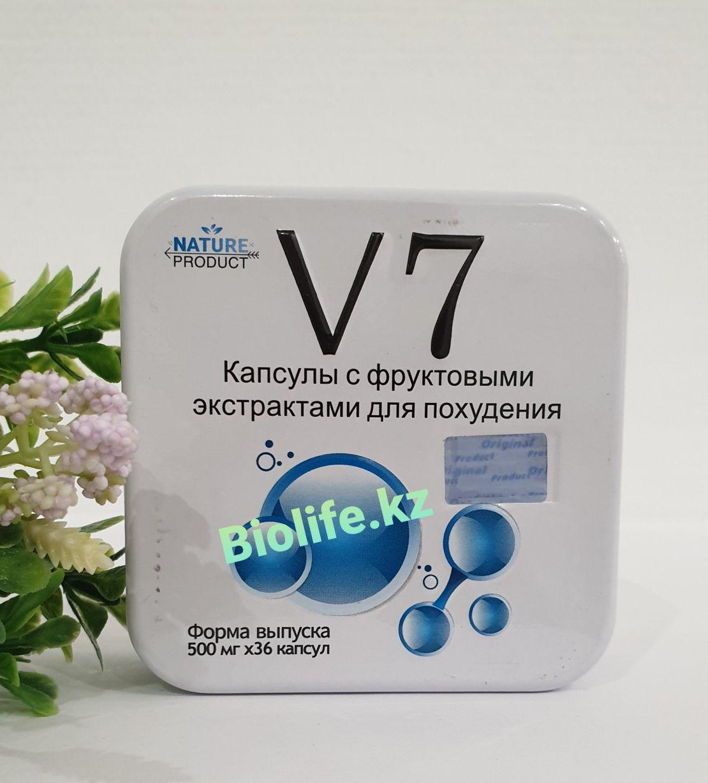 Капсулы для похудения V 7 в жестяной банке 36 кап.