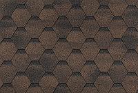Гибкая черепица , серия ФИНСКАЯ ЧЕРЕПИЦА, цвет коричневый