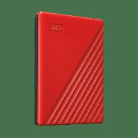"Western Digital WDBYVG0020BRD-WESN Внешний HDD 2Tb My Passport 2.5"" USB 3.1 Цвет: Красный"