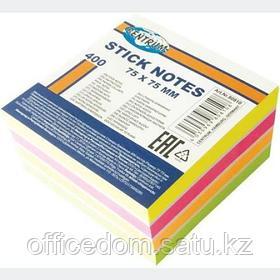 Клейкие листки (стикеры) Centrum, 75х75 мм, 400 л., 4 неоновых цвета