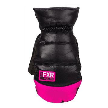 Рукавицы FXR Aspen Short с утеплителем, размер XS, чёрный, розовый