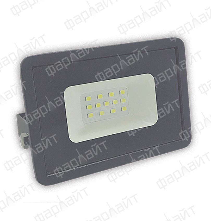 Прожектор светодиодный СДО 10Вт 6500К IP65 серый Фарлайт