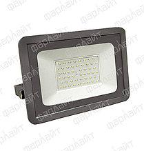 Прожектор светодиодный СДО 50Вт 4000К IP65 серый Фарлайт