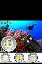 Мощный LED фонарь QH27 для Дайвинга Подводный, фото 3