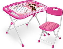"""Набор детской мебели """"Маленькая принцесса"""" стол+мягкий стул, от 3 до 7 лет NKP1/3"""
