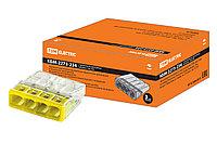 Строительно-монтажная клемма КМБ-2273-234 (4 провода) с пастой (2,5мм2) TDM