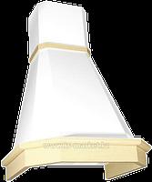 Вытяжка Elikor Камин Грань 60П-650 (60П-650-ПЗЛ бежевый/бук орех)