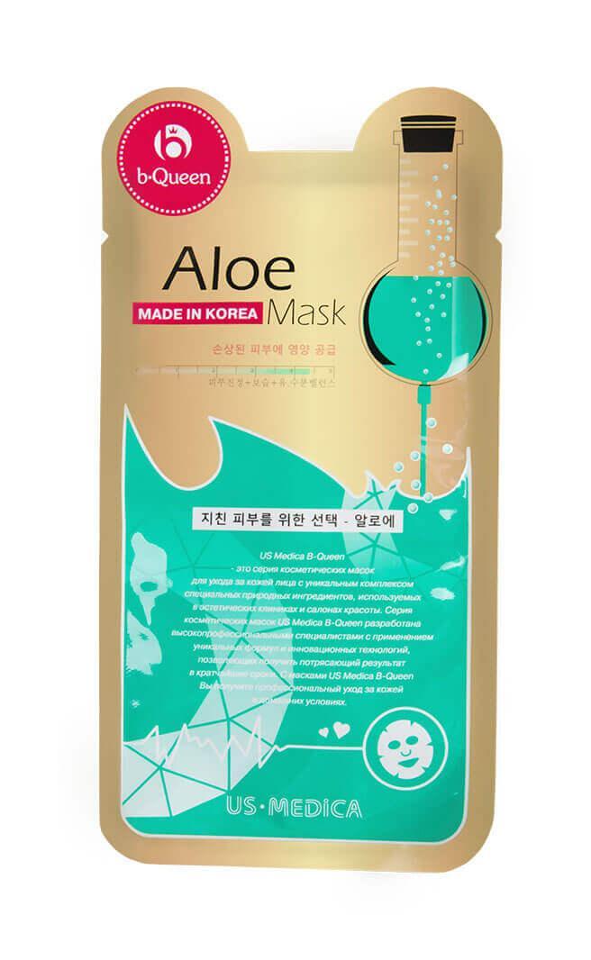 Маска для лица с экстрактом алоэ US Medica Aloe Mask