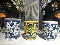 Стакан ручной работы, керамика. Италия