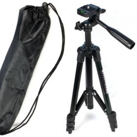 Штатив для фотоаппарата 110см/ трипод 3120A Black + чехол | Штатив для телефона и камеры