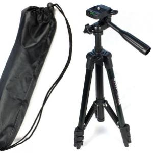 Штатив для фотоаппарата трипод 3120A Black + чехол | Штатив для телефона и камеры, фото 2