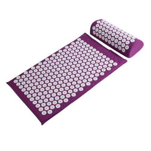 Аппликатор Кузнецова массажный акупунктурный коврик с подушкой (массажер для спины).