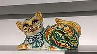 Декоративная статуэтка gatto, ручная керамика, Италия