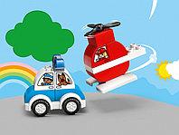 LEGO DUPLO 10955 Мой первый пожарный вертолет и полицейский автомобиль, конструктор ЛЕГО