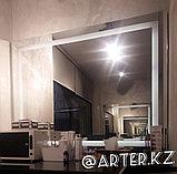 Зеркало с LED- подсветкой и пескоструйным рисунком, 800(В)х1000(Ш)мм, фото 2