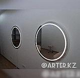 Зеркало с LED-подсветкой и пескоструйным рисунком, d=900мм, фото 4