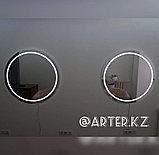 Зеркало с LED-подсветкой и пескоструйным рисунком, d=900мм, фото 3