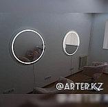 Зеркало с LED-подсветкой и пескоструйным рисунком, d=900мм, фото 2
