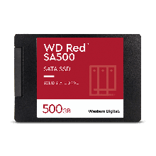 "Western Digital WDS500G1R0A Твердотельный накопитель SSD WD Red™ SA500 NAS 3D NAND WDS500G1R0A 500ГБ 2,5"" SATA"