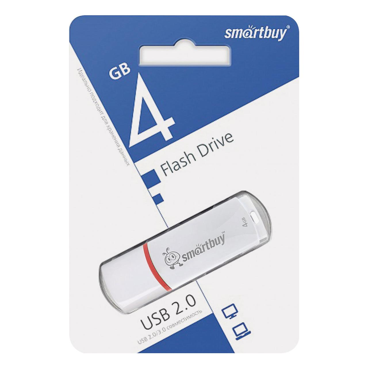 USB накопитель Smartbuy 4GB Crown White