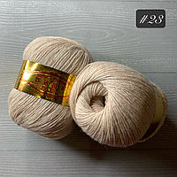 """Пряжа для ручного вязания """"норка """", 50 гр, белый крем-брюле"""