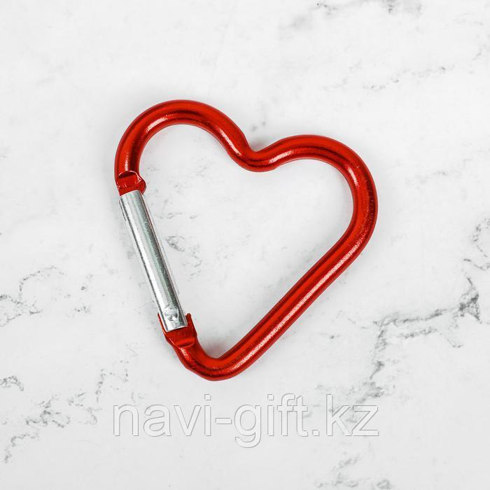 Брелок карабин «Люблю тебя» - фото 3