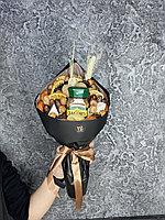 Мужской букет из сухофруктов с кофе