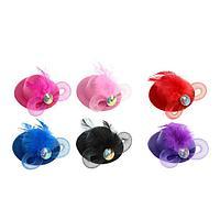Карнавальный зажим шляпка «Креатив», цвета МИКС