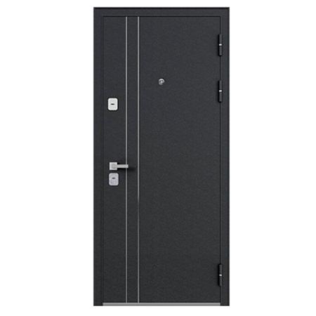 Дверь металлическая Graf МДФ 16 Лиственница белёная СБ-1 Лакобель 860 левая