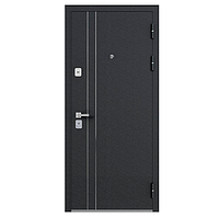 Дверь металлическая Graf МДФ 16 Лиственница белёная СБ-1 Лакобель 860 правая