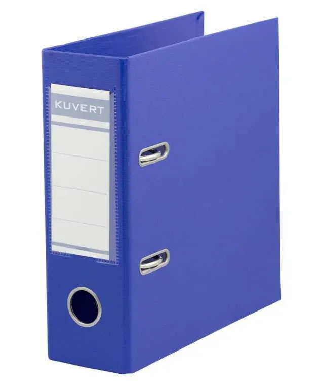 Папка-регистратор KUVERT А5, ширина корешка 72 мм, синяя