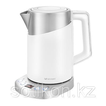 Электрический чайник Kitfort KT-660-1 белый, фото 2