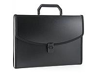 Папка-портфель БЮРОКРАТ, с окантовкой 13 отделений, черная