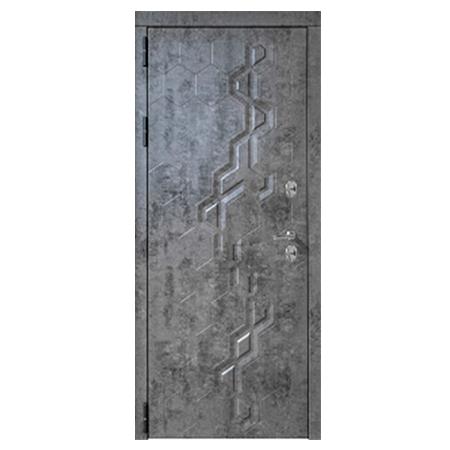 Дверь металлическая Робо Термо Черный муар 860 правая