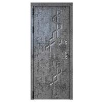Дверь металлическая Робо Термо Черный муар 960 левая