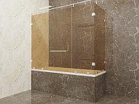 Стеклянная перегородка на ванну угловая бронза КС-170РЦ