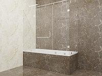 Стеклянная перегородка на ванну угловая прозрачная КС-170РЦ